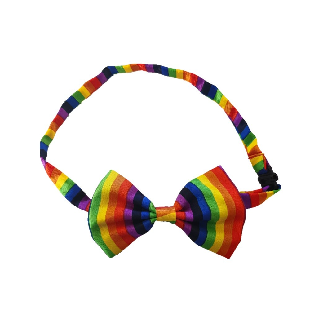 HOOYI Rainbow Boys Bow Ties Kids Striped Butterfly Baby Necktie Chldren Bowtie