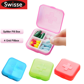 Swisse Pillbox Travel Pill Case Splitter Organizer Medicine Box Cutter Container  Divider Makeup