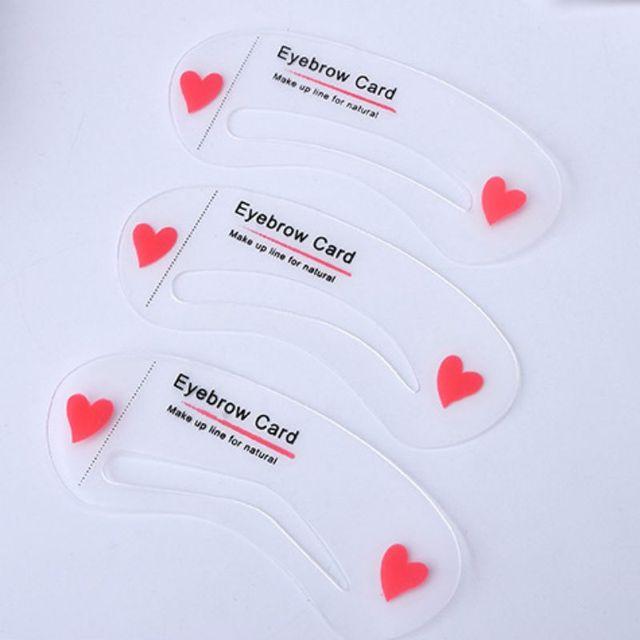 Easy to Use 3Pcs/set Thrush Card Threading Word Eyebrow Makeup Tools Threading Artifact Thrush Card Eyebrows Mold 2