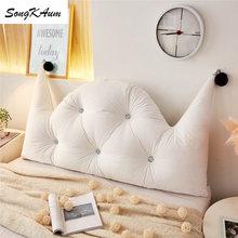 Songkaum lavável princesa castelo longo almofada de cabeceira estilo europeu almofadas de dupla face dupla casa travesseiros tatami