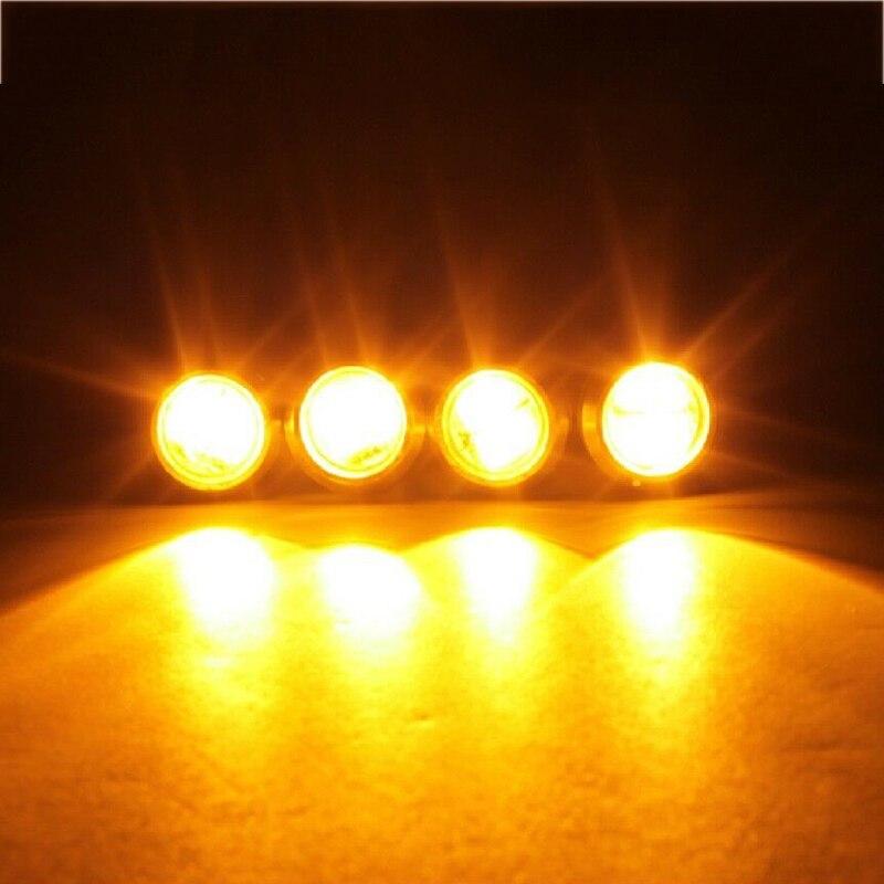 Made in USA 8pc Orange LED Interior Light Kit Boat Bass Ski Pontoon Marine