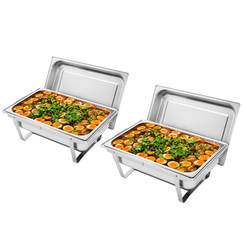 9L-1x2 Stainless Steel Flip Round Buffet Chafing Dish Restaurant buffet Insulated Round Buffet Stove