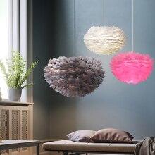 Lámparas colgantes de plumas, lámpara colgante, lámpara colgante de diseño nórdico, Lustre Vintage, suspensión de Loft, accesorio de iluminación de boda para dormitorio