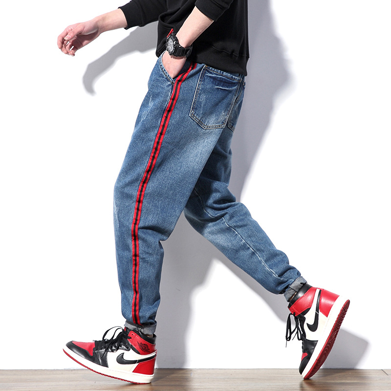 2019 Spring New Products Large Size Fat Harem Loose Casual Pencil Pants Versatile MEN'S Jeans
