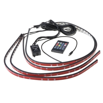 2021 New Multicolor Flexible Flowing Car LED Light Underglow Underbody System Neon Light image