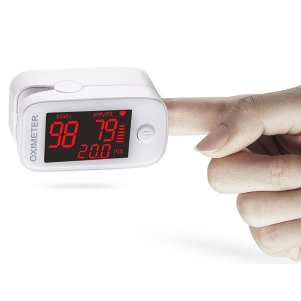 Finger Oximeter Oxygen Saturation Monitor Blood Oxygen Monitor Finger Pulse Low Battery Voltage Heart Rate