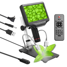 Andonstar ad407 7 인치 화면 3d 디지털 현미경 270x1080 p 고화질 현미경 카메라 납땜 현미경