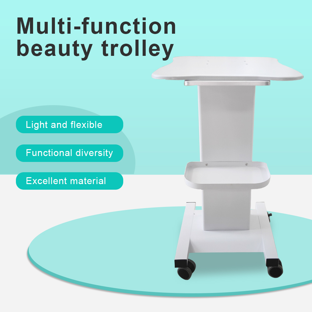 Durable Aluminium alloy <font><b>professional</b></font> Trolley Use Pedestal Rolling Cart Wheel for <font><b>Skin</b></font> <font><b>Care</b></font> <font><b>Tools</b></font> Beauty Salon Beauty Parlor Spa image