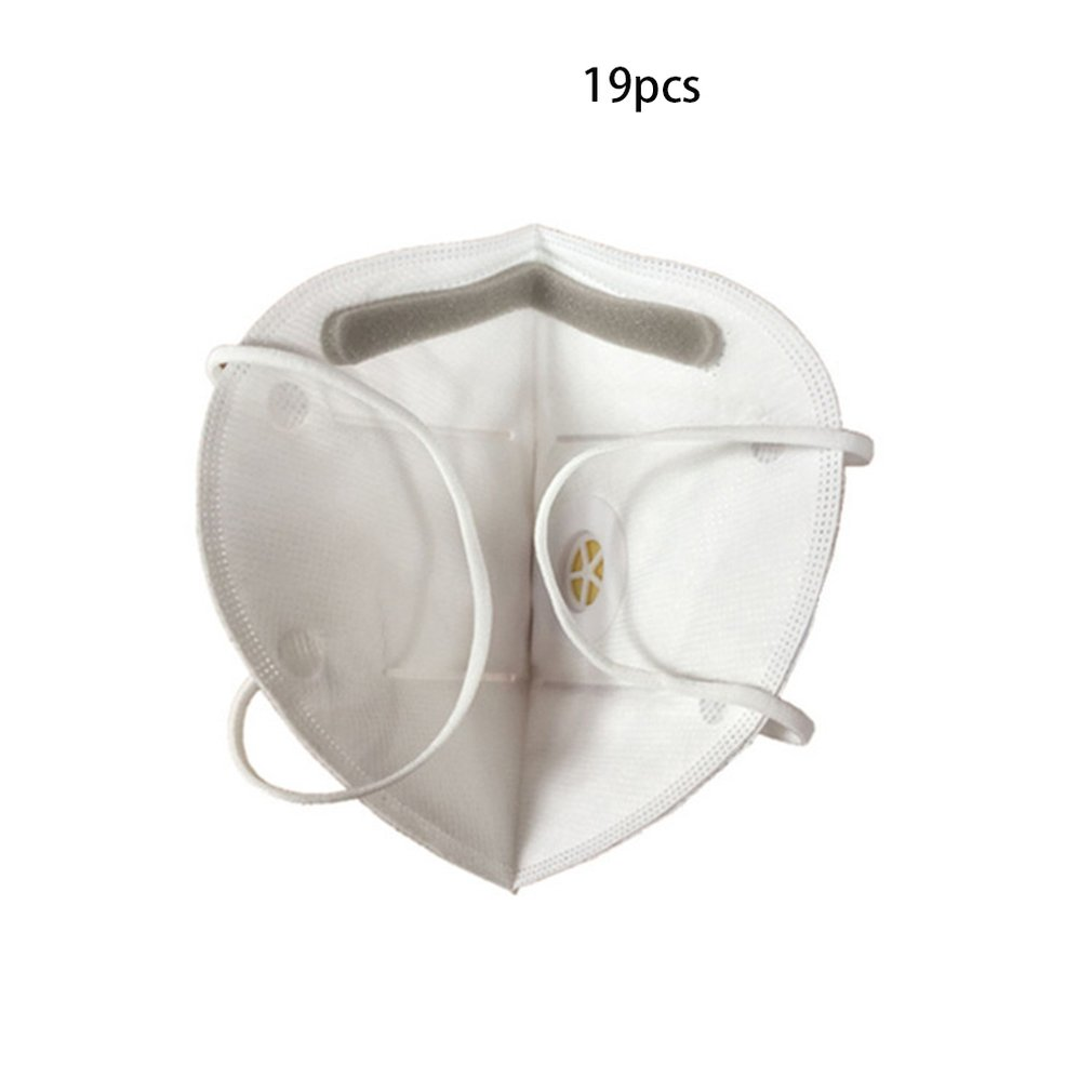 10PCS/Bag Foldable Disposable Dust Mask Anti PM2.5 Anti Influenza Breathing Valve Bicycle Riding Face Mask Safety Masks
