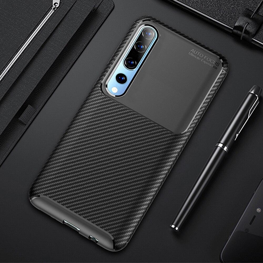 Case For Xiaomi Mi10 Mi 10 Pro Case Cover Carbon Fiber Bumper Shockproof Silicone Case On For Xiaomi Mi 10 Pro 5G Global Cover