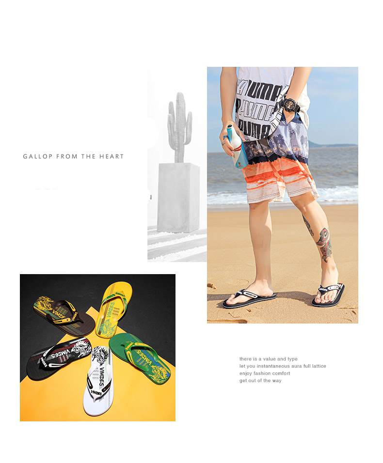 Hdf3917e253f94050a266a570727c366be - VESONAL Summer Graffiti Print Slippers Men Shoes Flip Flops Slipers Male Hip Hop Street Beach Slipers Casual Flip-flops