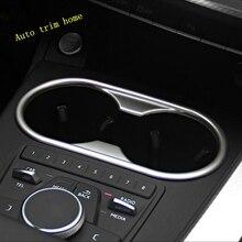 Lapetusフロントシート水カップホルダーフレームパネル用アウディA4 B9 A5 2016   2020 absクロームインテリアキット