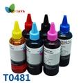6 цветов T0481 набор чернил для заправки чернил для принтера Epson Stylus Photo R200/R220/R300/R300M/R320/R340/RX500/RX600/RX620