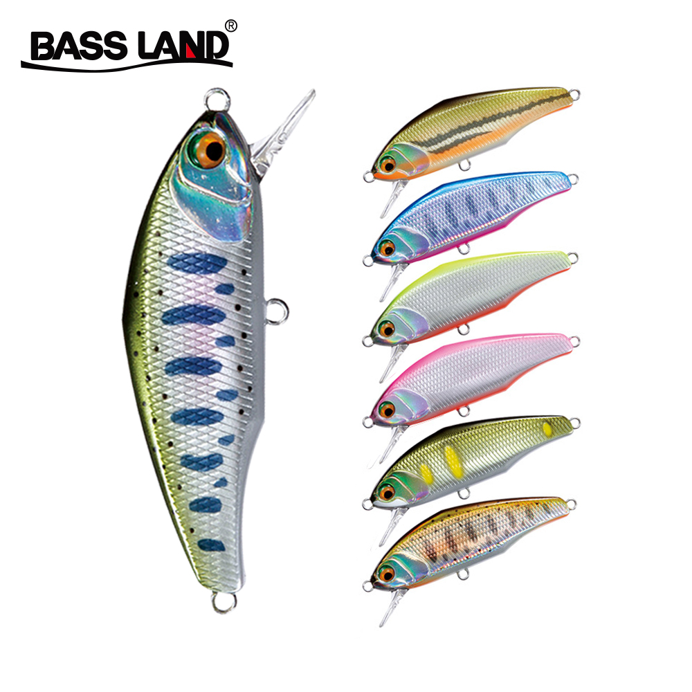 Bassland Issen Minnow Isca Artificial Hard Bait Fishing Lure Crankbait Wobblers Sinking For Bass Perch Pike Trout Pesca Japan