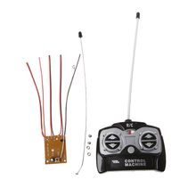 цена на 5CH 27Mhz Remote Controller Unit Receiver Board+Remote Control For Tank Car Toy Radio System for 130 Motor 6V 5V 634F