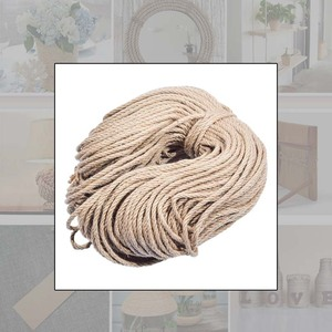 Image 5 - 6mmx100m Sisal Ropes Jute Twine Rope Natural Hemp Cord Decor Cat Pet Scratching Home Art Decor