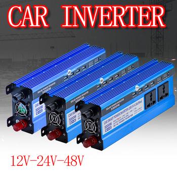 Falownik solarny 12 24 48V 220V falownik 5000 konwerter napięcia transformator 4 USB falownik solarny ładowarka do samochodu W domu tanie i dobre opinie BEJIXIONG CN (pochodzenie) 50Hz Other Dc 12 v Ac 220v±10