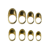 1PC Bogenschießen 16-23mm Kupfer Daumen Finger Schutz Ring Protector Traditionelle Messing Protector Getriebe Für Schießen Jagd zubehör
