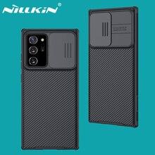 لسامسونج غالاكسي نوت Samsung Galaxy Note 20 Ultra الترا غطاء نوت Note 20 5G جرام حافظة NILLKIN CamShield كاميرا الشريحة حماية الخصوصية غطاء لسامسونج نوت Samsung Note20