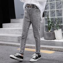 Girls Jeans Children Fashion Elastic Skinny Pencil Pants 8 12 Years School Girl Trousers Jeans for Kids Autumn Girls Denim Pants girls denim pants high quality spring kid clothing autumn girl trousers fall children jeans pants leggings heart pattern jeans