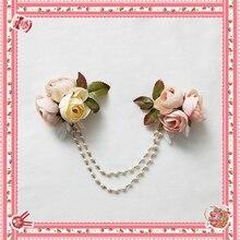 الحلو لوليتا سلسلة بروش مع الزهور بواسطة Infanta