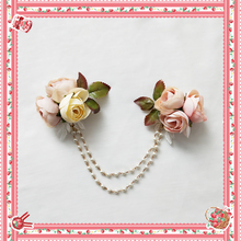 Sweet Lolita Chain Brooch with Flowers by Infanta