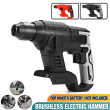 Power-Drill-Tool Battery Rotary-Hammer Impact Electric 18v Makita Multifunction Rechargeable
