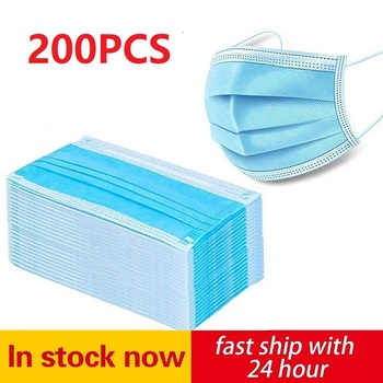 Stock In Europe! 200 Pcs Face Masks 3 Layers Mask Particulate Mouth Mask 95% Filter Mask