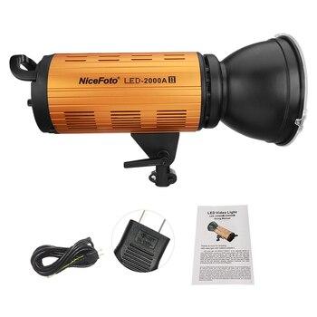 Lámpara de luz de vídeo LED NiceFoto LED-1500A/2000A II 150/200W 3200-6500K + pantalla LCD Control de aplicación para retrato de estudio