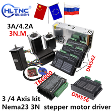 Cnc Router Kit 3 4 As, nema23 3N 3A/4.2A Stappenmotor Driver TB6600 DM542 DM556 + Usb Mach3 Controller + 350W Voeding
