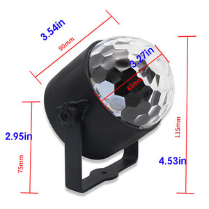 Image 2 - Mini uzaktan RGB LED kristal sihirli dönen top sahne ışıkları ses aktif disko ışık müzik noel KTV parti ab/ abd/İngiltere tak