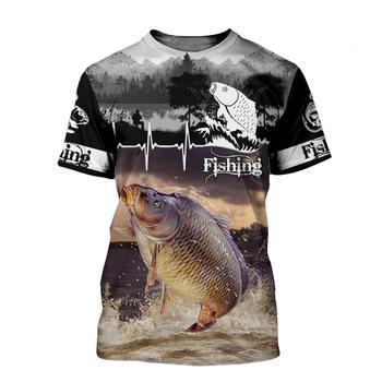 Leaping Carp lifeline fishing T shirt all over print