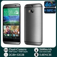 الهواتف الذكية الأصلية M8 4G-lte مقفلة 5.0 بوصة أندرويد 2GB RAM 32GB ROM الهاتف المحمول 1080P 1080x1920 بكسل NFC الهواتف المحمولة