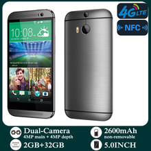 Original Smartphones M8 4G-lte Unlocked 5.0inch Android 2GB RAM 32GB ROM Cellphone 1080P 1080x1920 pixels NFC Mobile Phones
