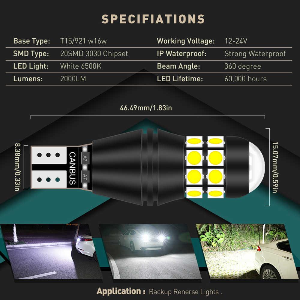 2 Pcs T15 921 W16W Led Canbus Lamp Auto Backup Reverse Licht Voor Bmw E36 E90 F30 F80 E93 E92 f34 E91 F31 E46 E87 F20 F21 E60