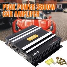 Peak 3800W 2 Channel Car Amplifer 400W Class AB Digital High Car Power Amplifier Stereo Aud