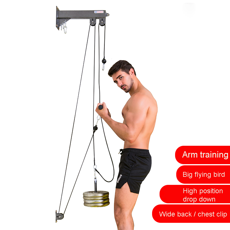 Fitness Pulley Cable System DIY Arm Biceps Triceps Chest Pull Rope Machine Workout Polea Strength Home Gym Trainning Accessories