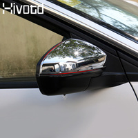 Hivotd For Peugeot 3008 GT 3008GT 2018 2019 Car styling Rearview Side Door Mirror Cover Chrome stick frame Exterior accesorios