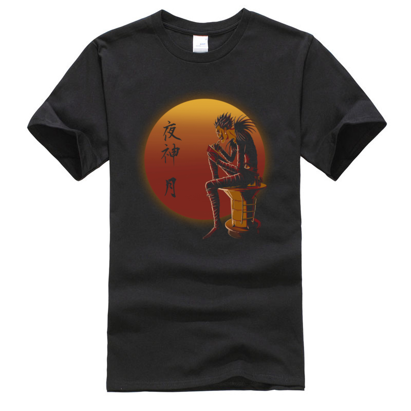 Death Note Ryuk On Sunset T Shirt Shinigami O Neck Tops Shirts Camiseta 100% Cotton Mens Classic Top T-shirts Hip Hop Tshirt Men