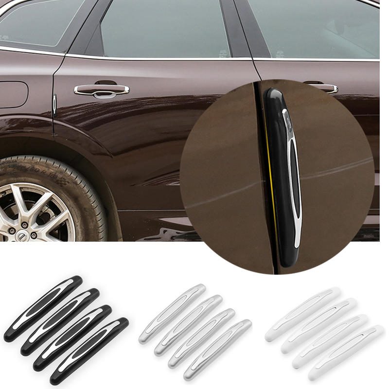 4 Stks/pak Auto Anti-Collision Strip Deur Guard Protector Edge Trim Guard Styling Moulding Anti-Kras Sticker Buitenkant onderdelen