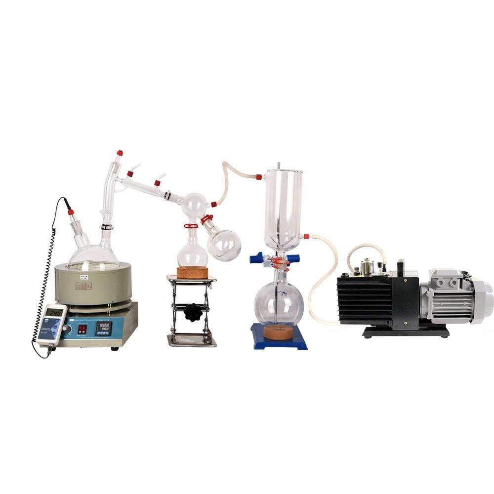 Купить с кэшбэком Laboratory  Equipment 2L Short Path Distillation Chemistry Lab Distillation Economic Short Path Distillation