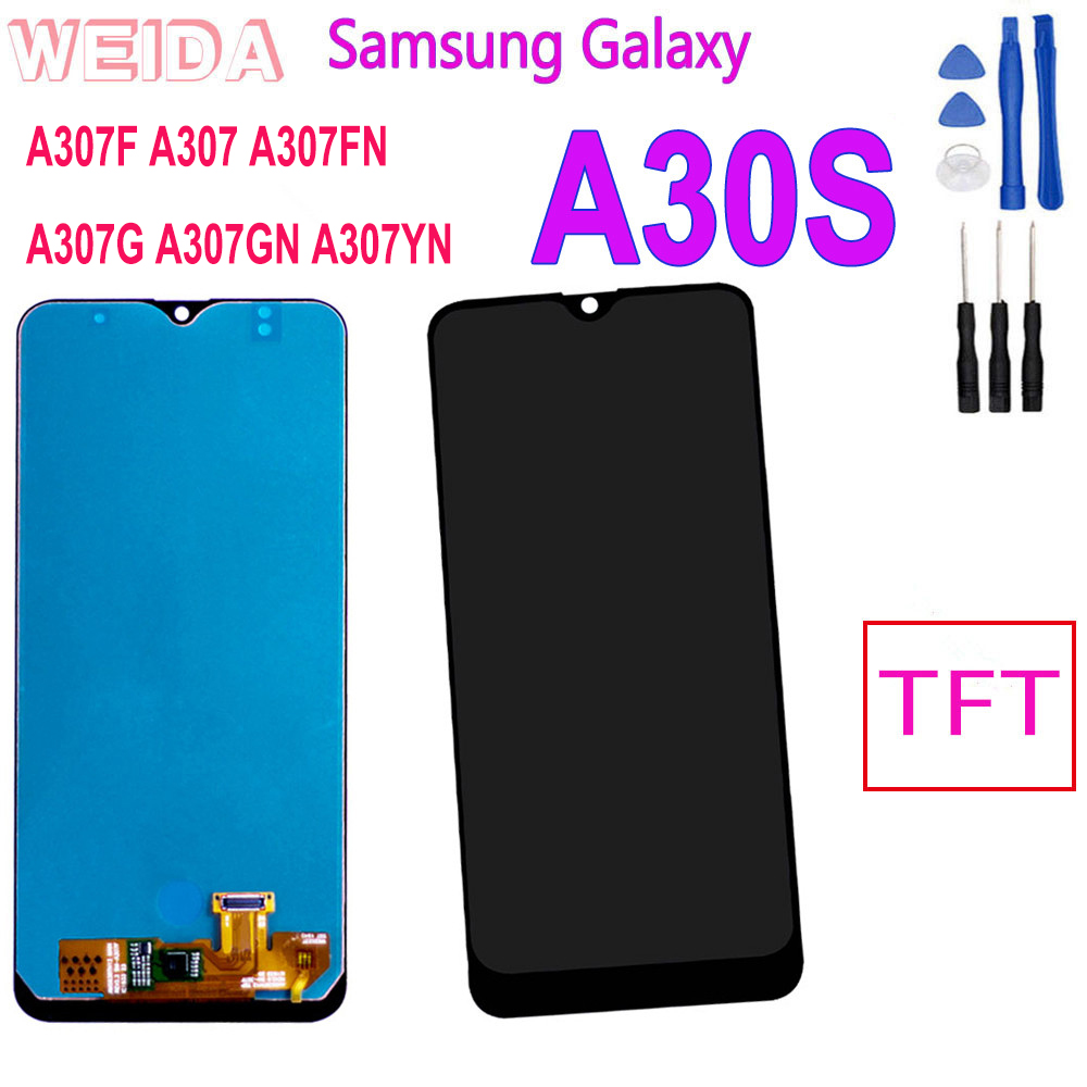 6.4'' Display for <font><b>SAMSUNG</b></font> GALAXY <font><b>A30S</b></font> A307F A307FN A307G A307GN A307YN Touch Screen Digitizer Assembly Screen Replacement <font><b>LCD</b></font> image