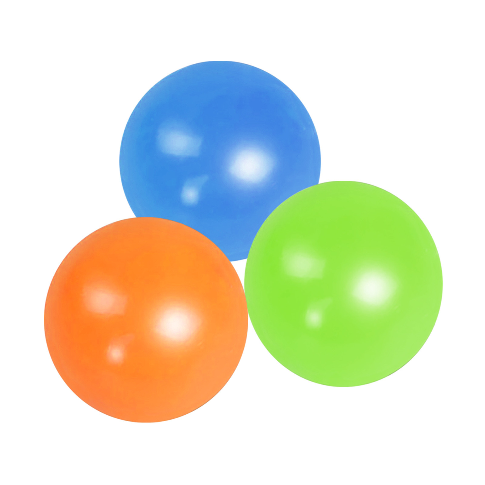 Globbles Stick Wall Ball Fluorescent Toys For Kids Sticky Wall Ball Sticky Target Ball img4