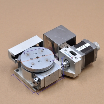 KOHZU R-axis 70 * 70mm RA07-02 electric precision rotary work slide optical displacement platform aluminum military optical r