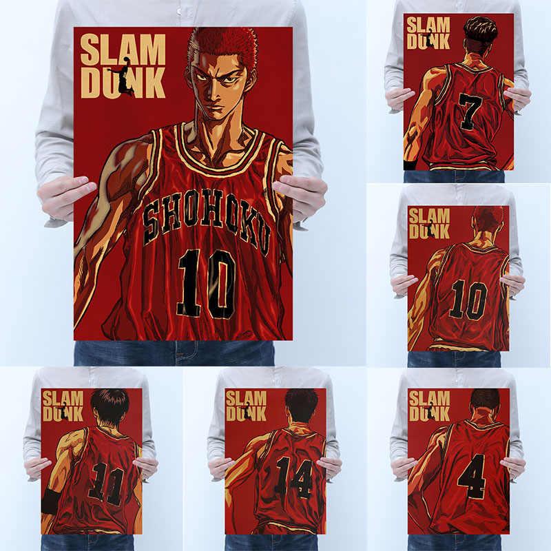 Póster de papel Retro Mling 1 unidad Slam Dunk Master, pintura de pared para el hogar, dormitorio, Internet, café, pegatina decorativa para pared