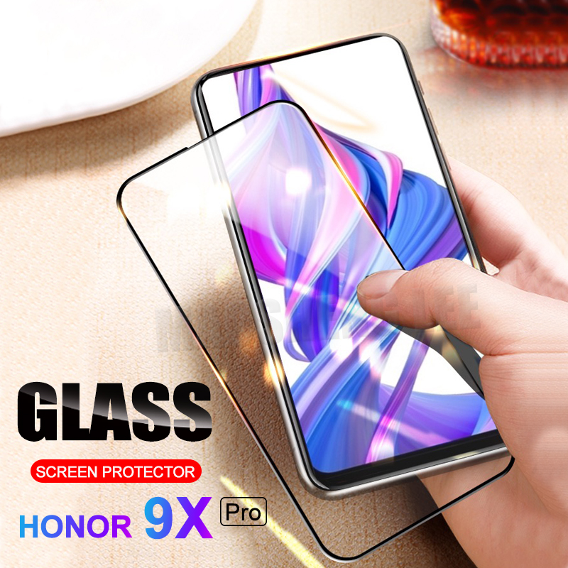 New 9D Tempered Glass For Huawei Honor 9X Pro Screen Protector Full Cover Glass For Huawei Honor 9X Glass Protective Film