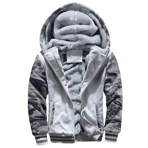 Image 3 - Mannen Camouflage Jassen Hooded Fleece Warme Dikke Mens Casual Jassen Uitloper Winter Merk Mannelijke Rits Militaire Hoodies Trainingspak