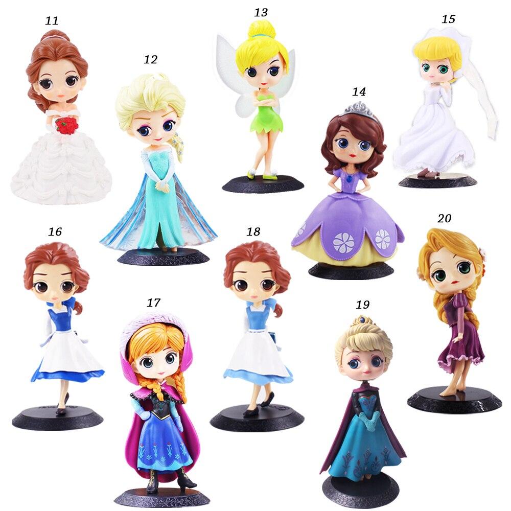 12 Qposket Q Posket Ariel Wonder Woman Harl Quinn Sleeping Beauty Mermaid Snow White Princess Rapunzel Belle Cake Wedding Toys