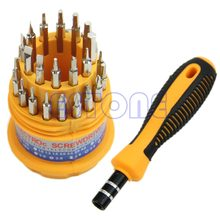 Drop Ship Delicate 31 In 1 Precisie Set Handvat Schroevendraaier Mobiele Telefoon Reparatie Kit Tool(China)