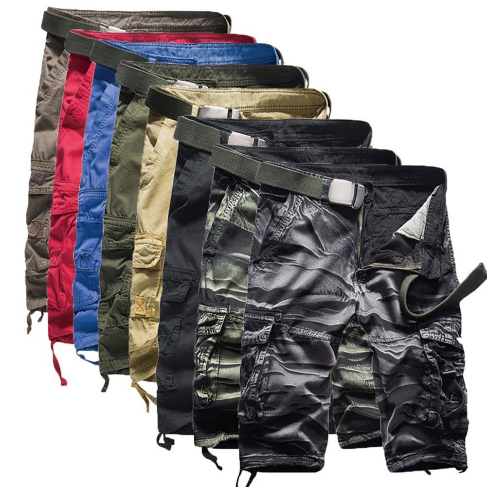 Cargo Shorts Men Cool Camouflage Summer Fifth Pants Cotton Casual Men Short Pants Clothing Comfortable Camo Men Cargo Shorts